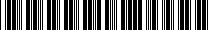 Barcode for 4G0064317