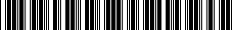 Barcode for 8K0071761A