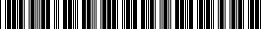 Barcode for 8T00716109AX