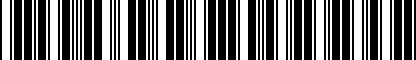 Barcode for 8T0075111