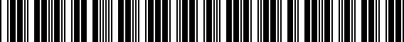 Barcode for ZAW071801HZ10