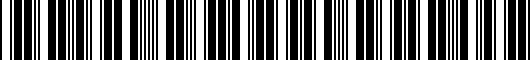 Barcode for ZAW072850XZ2